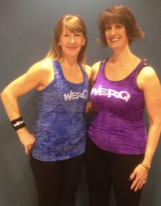 WERQ Instructor Karen Osborne (Pictured Left) WERQaholic Christine Hakimi (Pictured Right)