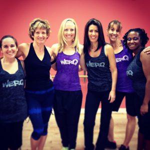 From left: MC Derin, Sonja Burns, Haley Stone, Wendy Preslan, Michelle O'Brien, Celeste Jeudy