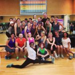 Lifetime Fitness members pose after the Master Class.